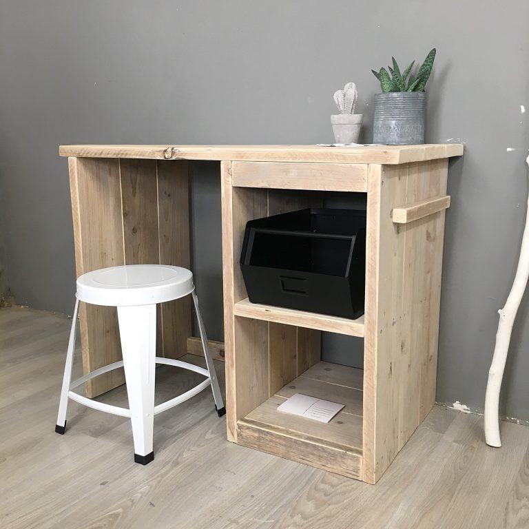 vakken bureau steigerhout