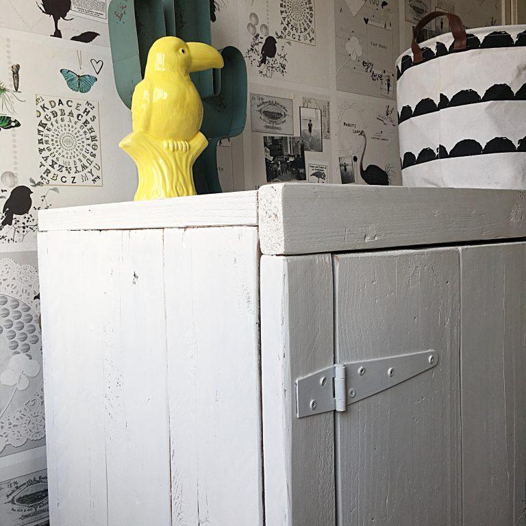 Commode steigerhout wit