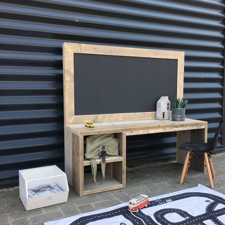 Bureau met krijtbord, speeltafel, kinderspeeltafel, knutseltafel