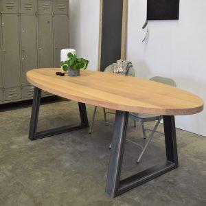 ovalen tafel eiken