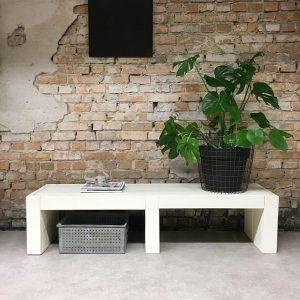 steigerhouten tv kast wit