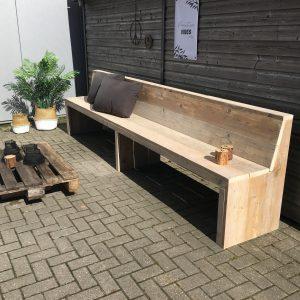 houten bank, steigerhout horeca