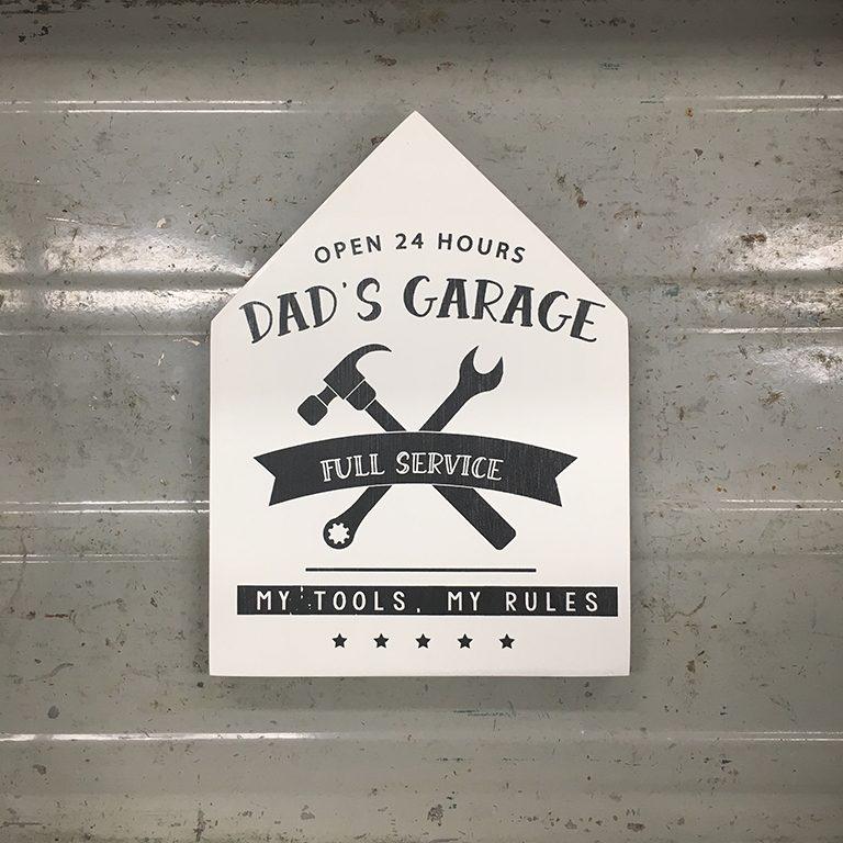 Teksthuisje-dads-garage