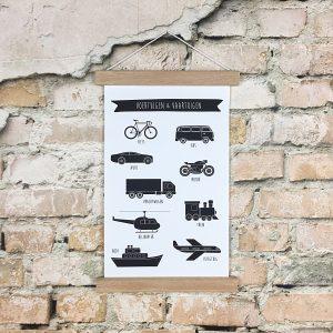 voertuigen-en-vaartuigen-textielposter