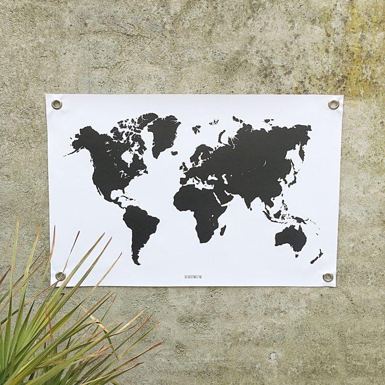 Tuinposter world, wereldkaart