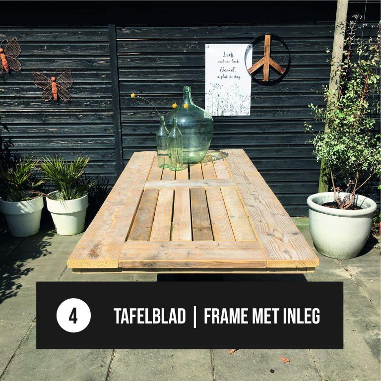 Tafelblad frame met inleg
