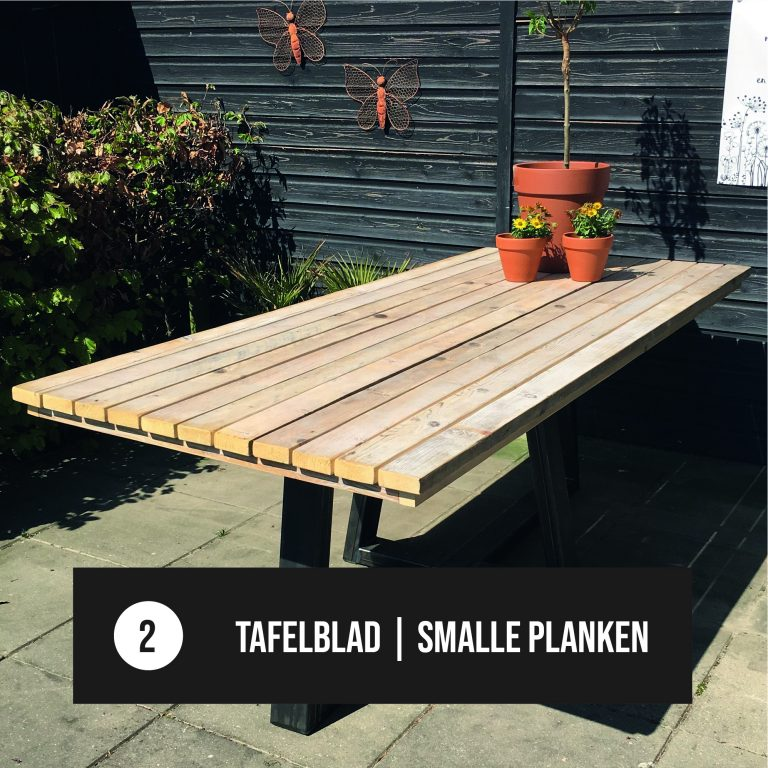 Tafelblad smalle planken