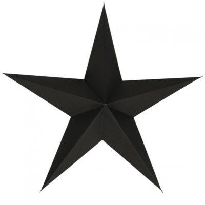 zwarte ster kerst papier