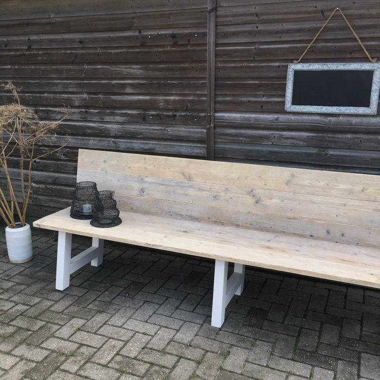 houten bank rugleuning