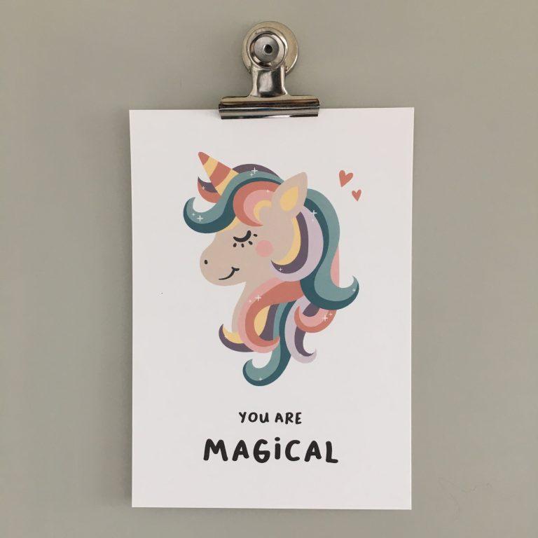 poster unicorn eenhoorn